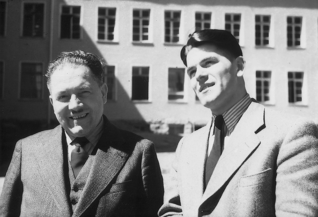 Hermann Papst and his son Günter before their first trip to the USA (taken in 1955)