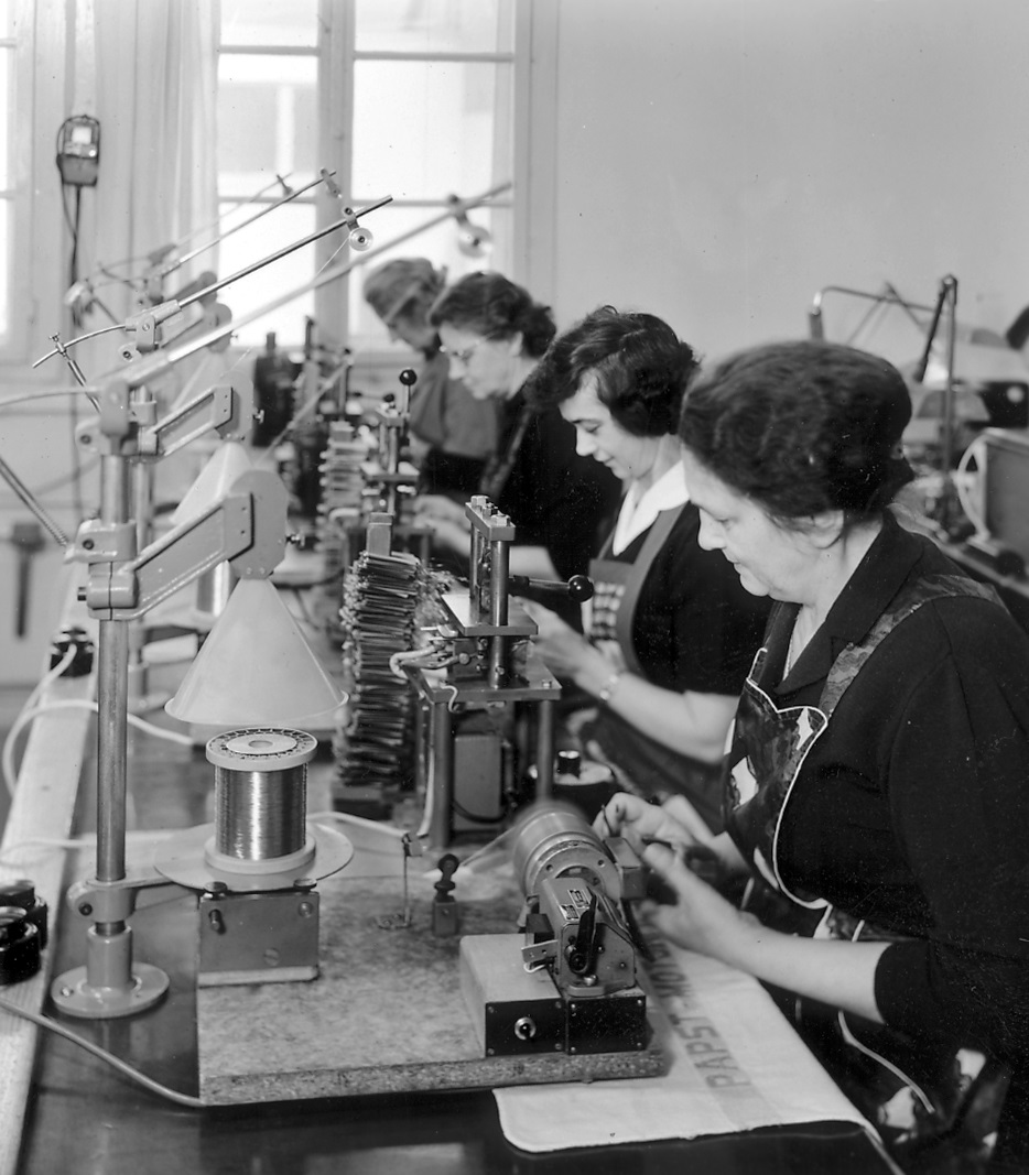 Winding technology of the companies first few years, around 1950